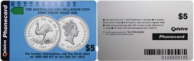 Australien 40 Dollar Emu 1996 Etui Telefonkartenset Telefonkarte