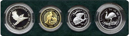 Australien Four Metal Proof Set 1995