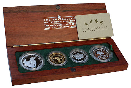 Australia Four Metal Proof Set 1996