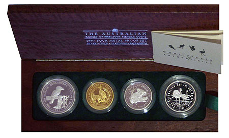Australien Four Metal Proof Set 1997