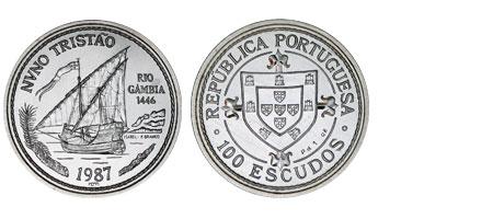 100 Escudos Portugal Nuno Tristao 1987 Bu