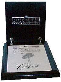 Box Emu 1997 Proof